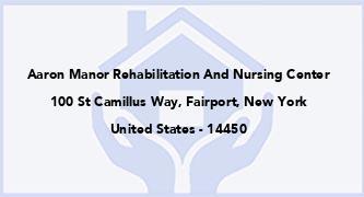 Aaron Manor Rehabilitation And Nursing Center