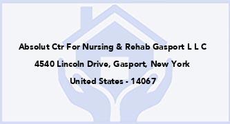 Absolut Ctr For Nursing & Rehab Gasport L L C