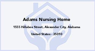 Adams Nursing Home