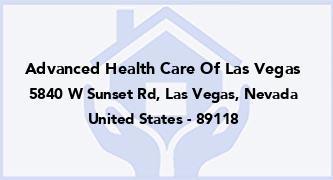 Advanced Health Care Of Las Vegas