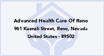Advanced Health Care Of Reno