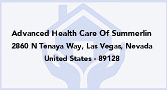 Advanced Health Care Of Summerlin