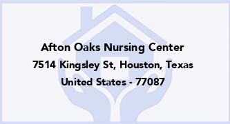 Afton Oaks Nursing Center