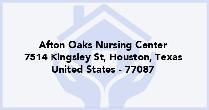 Afton Oaks Nursing Center