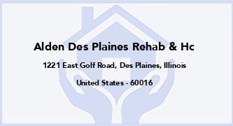 Alden Des Plaines Rehab & Hc