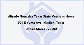 Alfredo Gonzalez Texas State Veterans Home