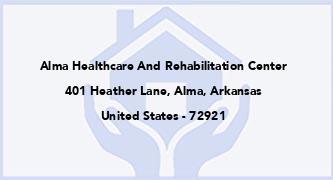 Alma Healthcare And Rehabilitation Center