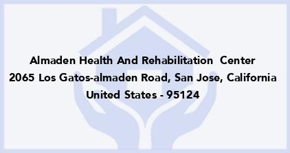 Almaden Health And Rehabilitation  Center