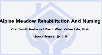 Alpine Meadow Rehabilitation And Nursing
