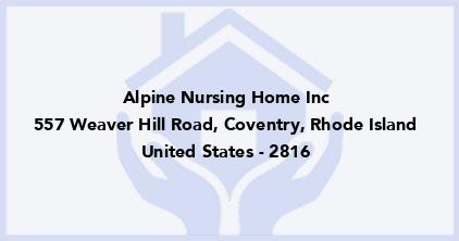 Alpine Nursing Home Inc