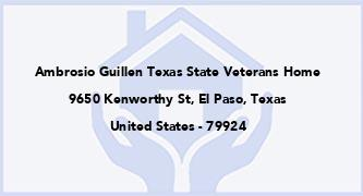 Ambrosio Guillen Texas State Veterans Home