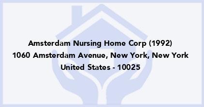 Amsterdam Nursing Home Corp (1992)