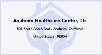 Anaheim Healthcare Center, Llc