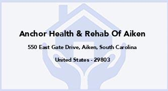 Anchor Health & Rehab Of Aiken
