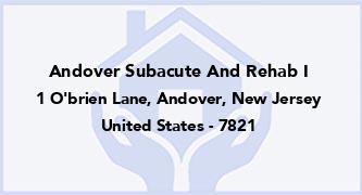 Andover Subacute And Rehab I