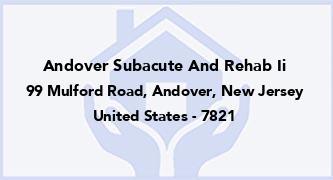 Andover Subacute And Rehab Ii