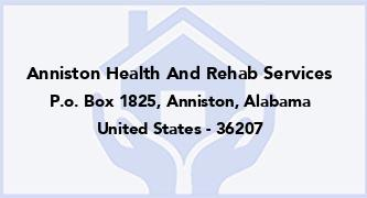 Anniston Health And Rehab Services