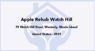 Apple Rehab Watch Hill