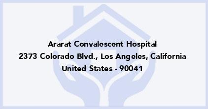 Ararat Convalescent Hospital