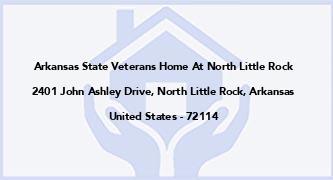 Arkansas State Veterans Home At North Little Rock