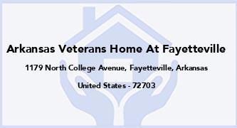 Arkansas Veterans Home At Fayetteville