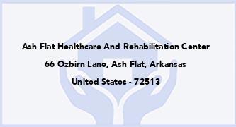 Ash Flat Healthcare And Rehabilitation Center