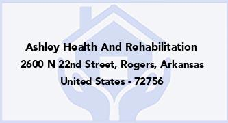 Ashley Health And Rehabilitation