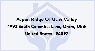 Aspen Ridge Of Utah Valley