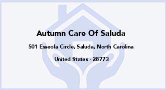 Autumn Care Of Saluda
