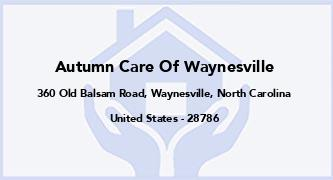 Autumn Care Of Waynesville