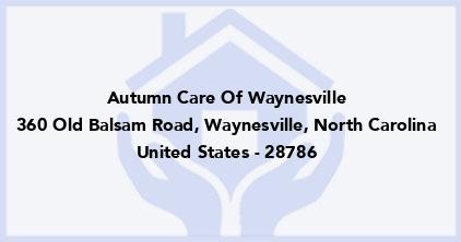 Autumn Care Of Waynesville