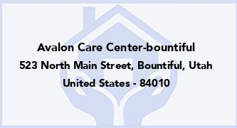 Avalon Care Center-Bountiful