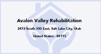 Avalon Valley Rehabilitation