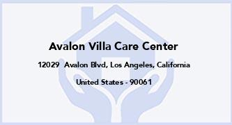 Avalon Villa Care Center