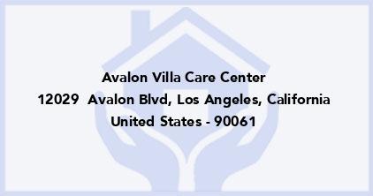Avalon Villa Care Center