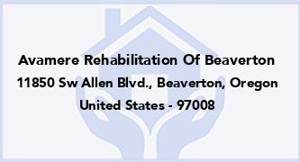 Avamere Rehabilitation Of Beaverton