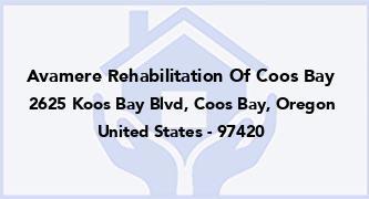 Avamere Rehabilitation Of Coos Bay