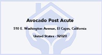 Avocado Post Acute