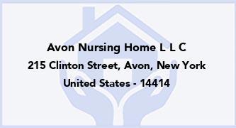Avon Nursing Home L L C