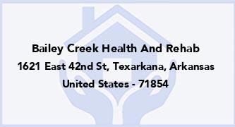 Bailey Creek Health And Rehab