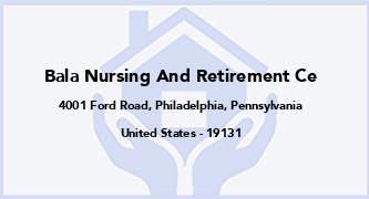 Bala Nursing And Retirement Ce