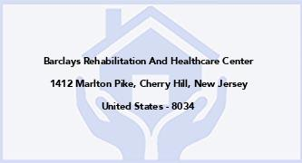 Barclays Rehabilitation And Healthcare Center