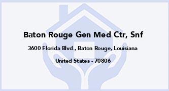 Baton Rouge Gen Med Ctr, Snf