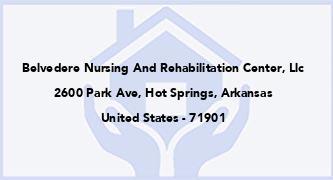Belvedere Nursing And Rehabilitation Center, Llc