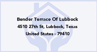 Bender Terrace Of Lubbock