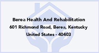 Berea Health And Rehabilitation