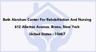 Beth Abraham Center For Rehabilitation And Nursing