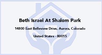 Beth Israel At Shalom Park