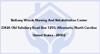 Bethany Woods Nursing And Rehabilitation Center
