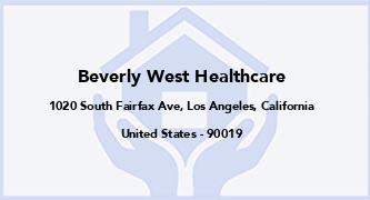 Beverly West Healthcare